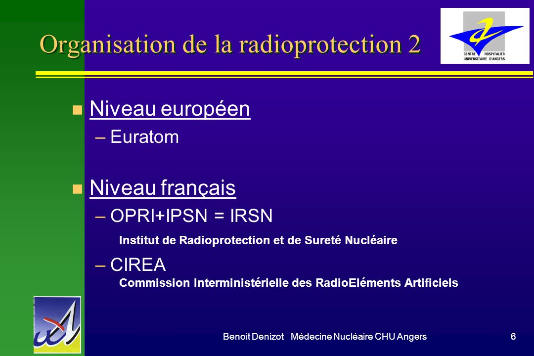 Organisation de la radioprotection 2