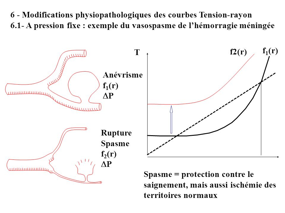 6 - Modifications physiopathologiques des courbes Tension-rayon