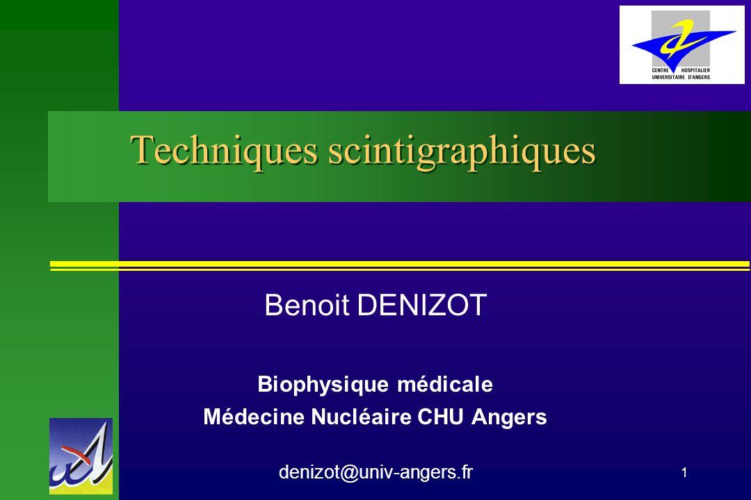Techniques scintigraphiques