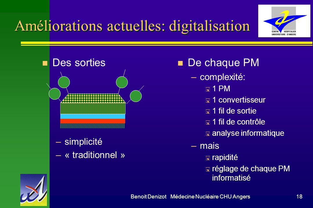 Améliorations actuelles: digitalisation
