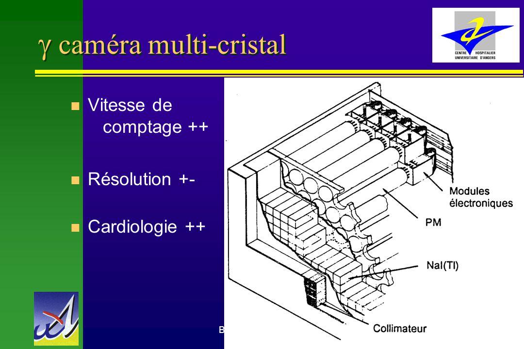 g caméra multi-cristal