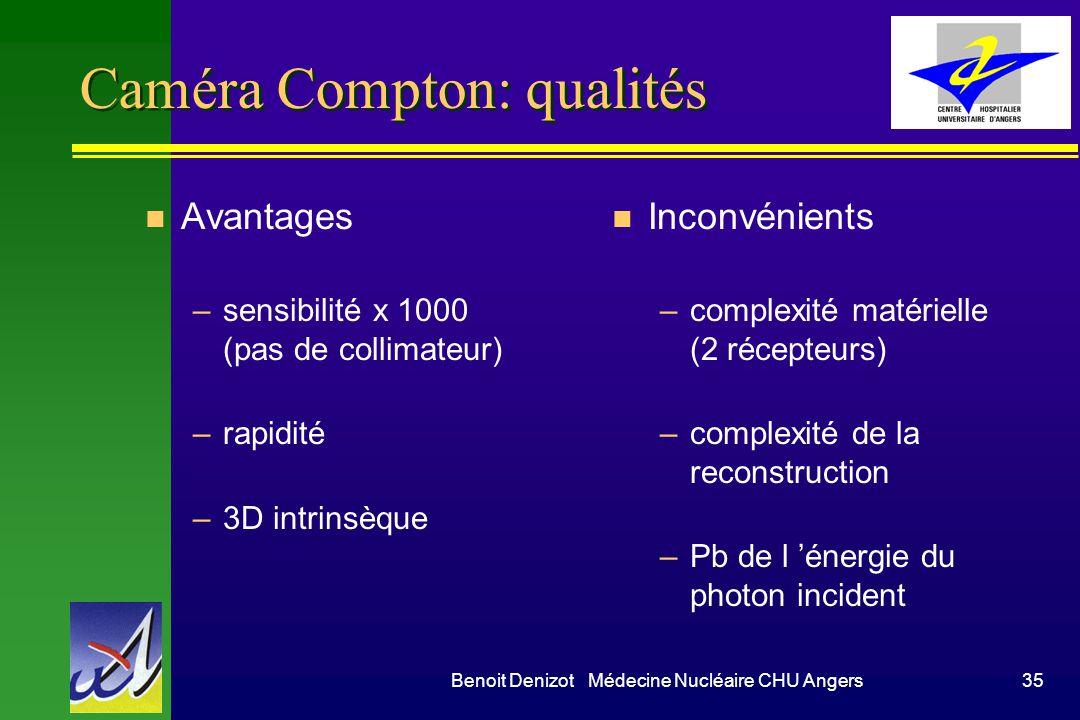 Caméra Compton: qualités