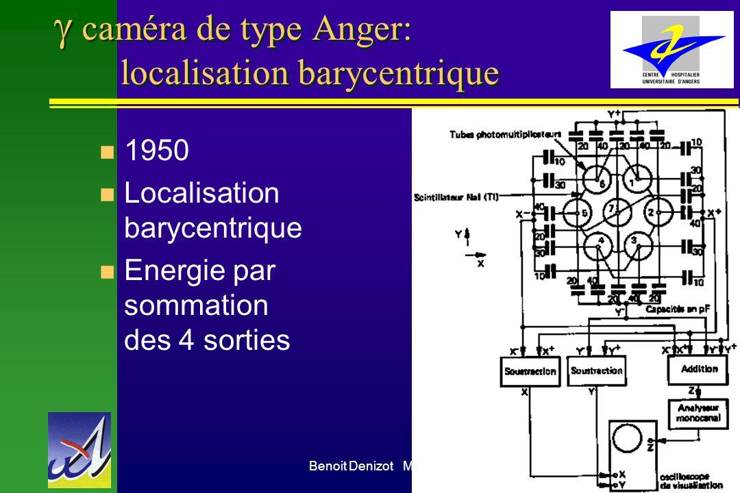 g caméra de type Anger: localisation barycentrique