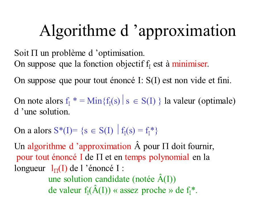 Algorithme d 'approximation