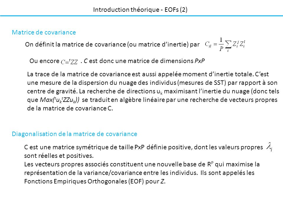 Introduction théorique - EOFs (2)