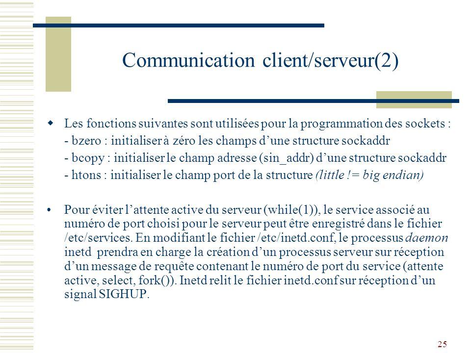 Communication client/serveur(2)
