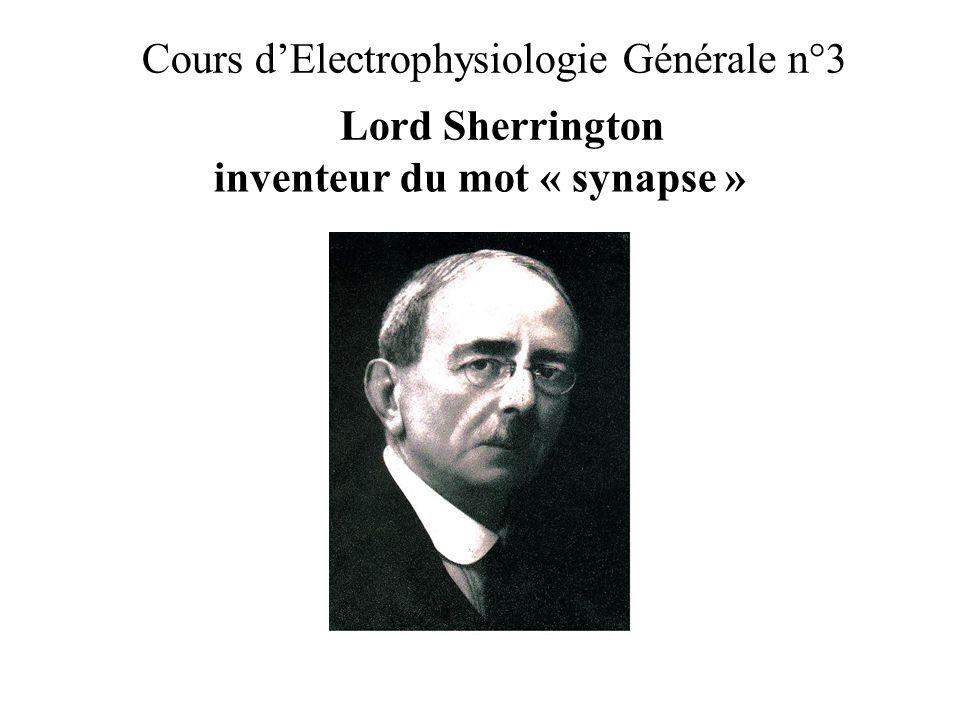 Cours d'Electrophysiologie Générale n°3 Lord Sherrington