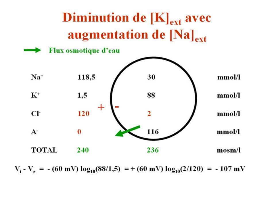 Diminution de K augmentation de Na 2