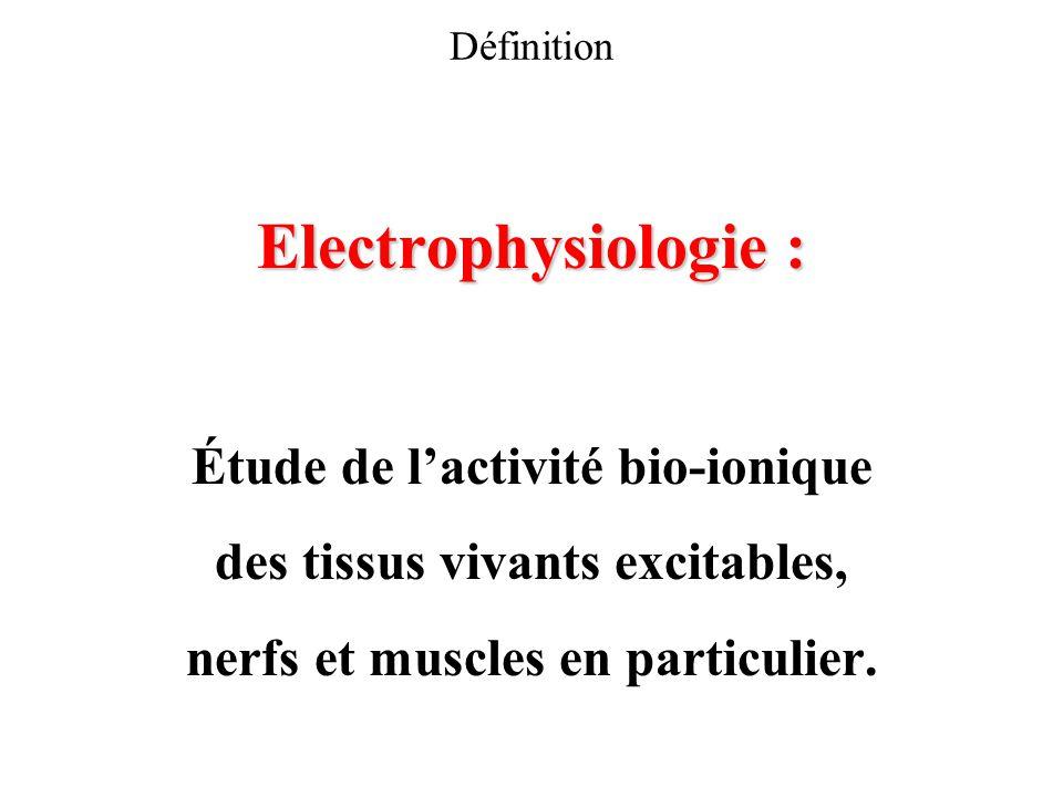 Electrophysiologie : Étude de l'activité bio-ionique