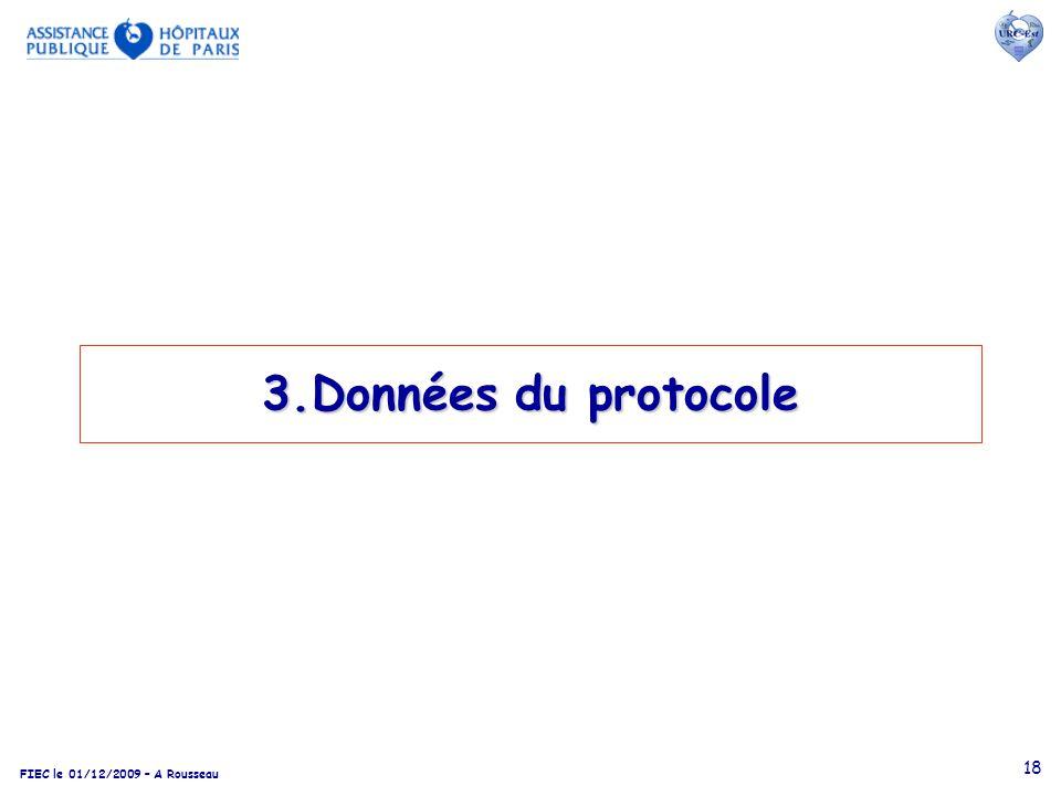 3.Données du protocole
