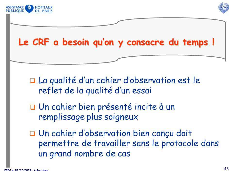 Le CRF a besoin qu'on y consacre du temps !
