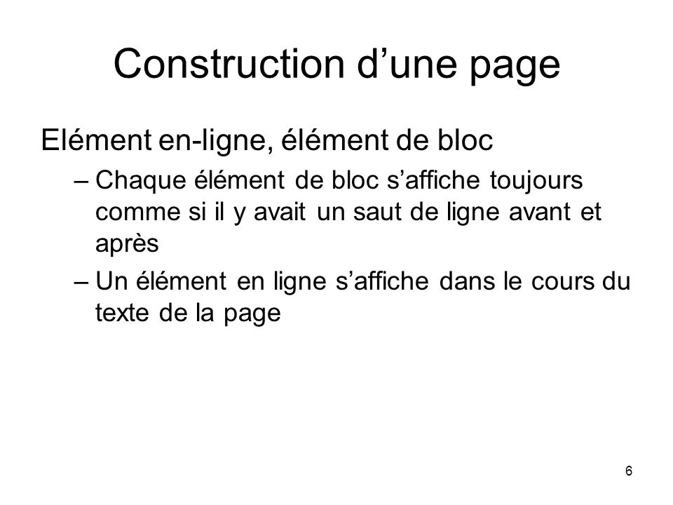 Construction d'une page
