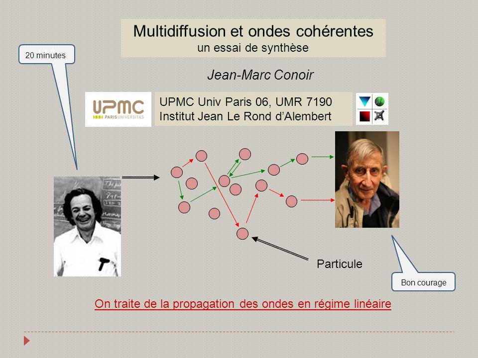 Multidiffusion et ondes cohérentes un essai de synthèse