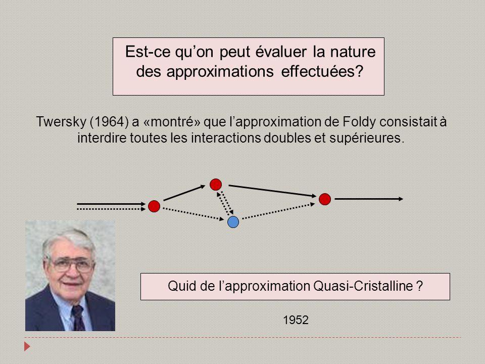 Est-ce qu'on peut évaluer la nature des approximations effectuées