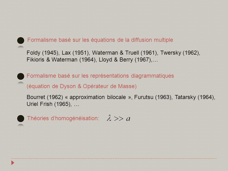 Formalisme basé sur les équations de la diffusion multiple
