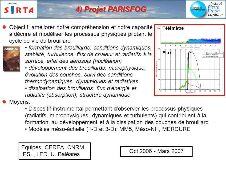 4) Projet PARISFOG