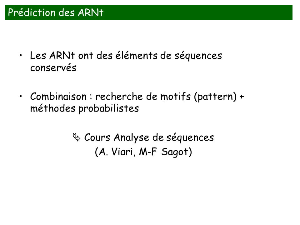  Cours Analyse de séquences