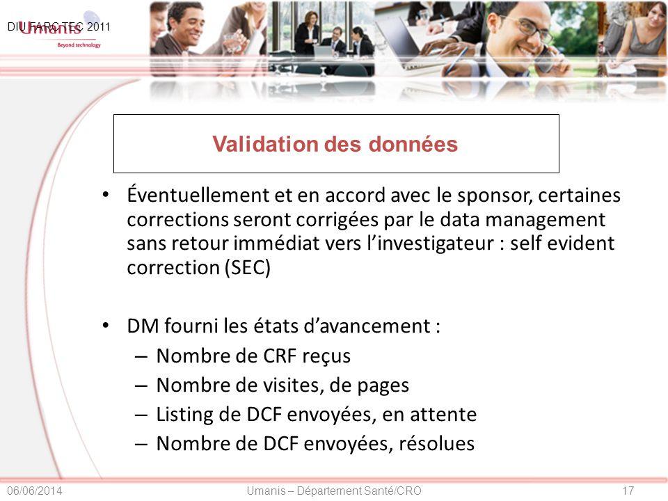 Validation des données