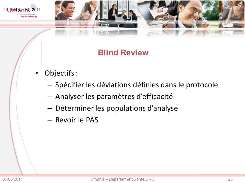 Spécifier les déviations définies dans le protocole