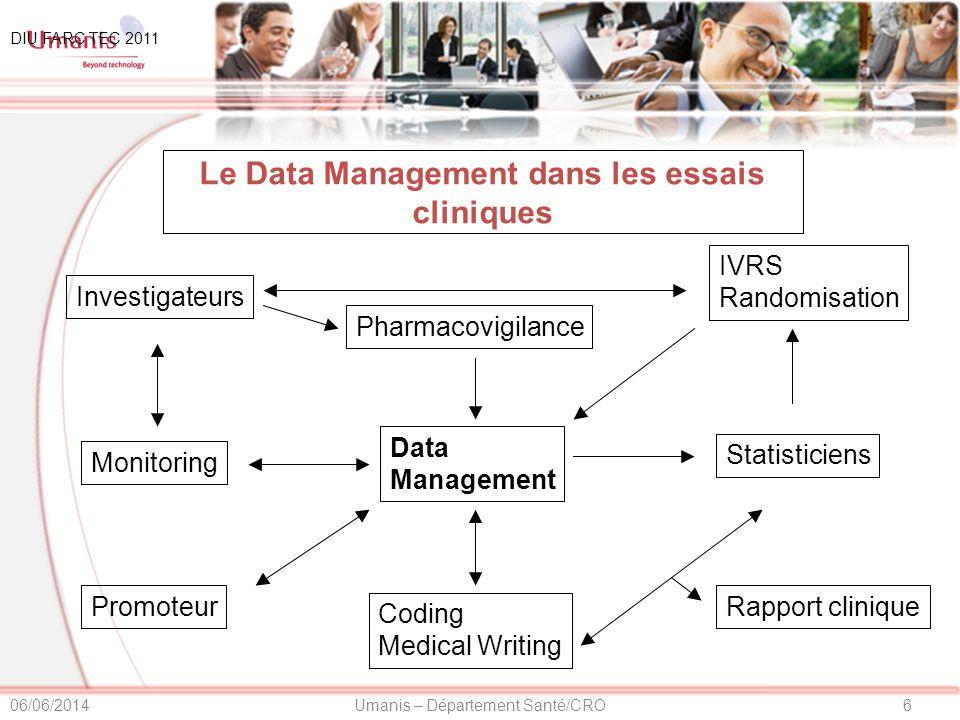 Le Data Management dans les essais cliniques