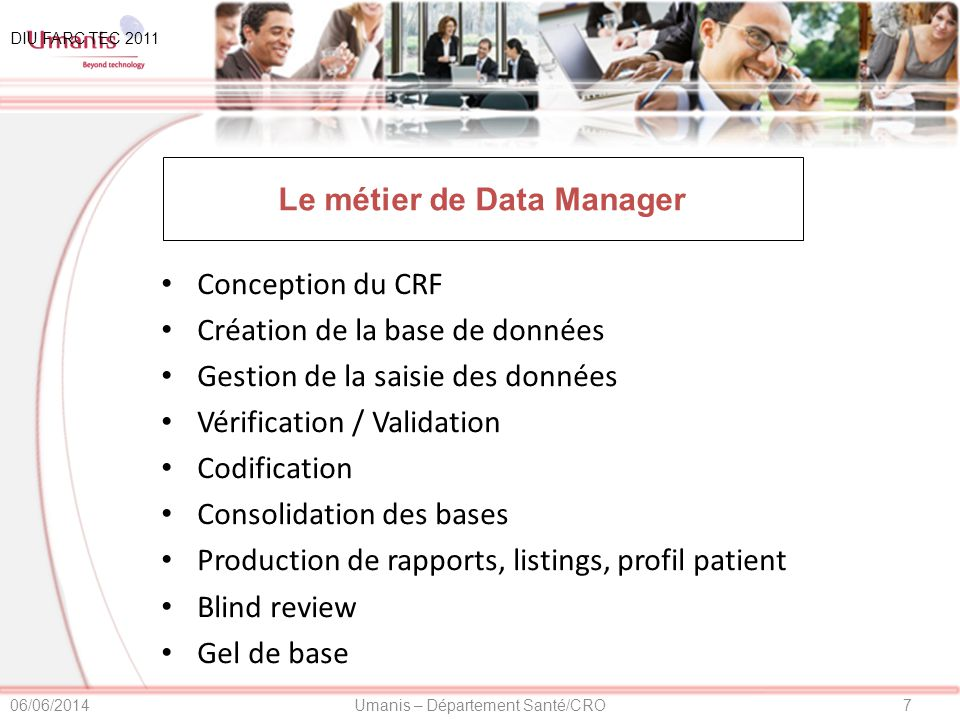 Le métier de Data Manager