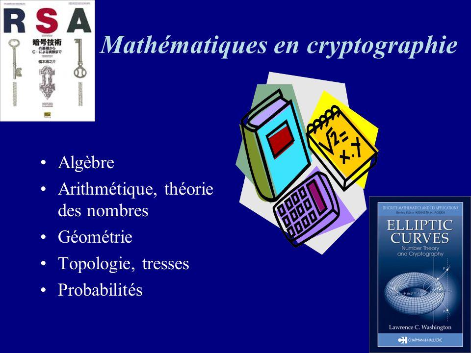 Mathématiques en cryptographie