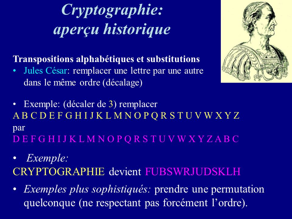 Cryptographie: aperçu historique
