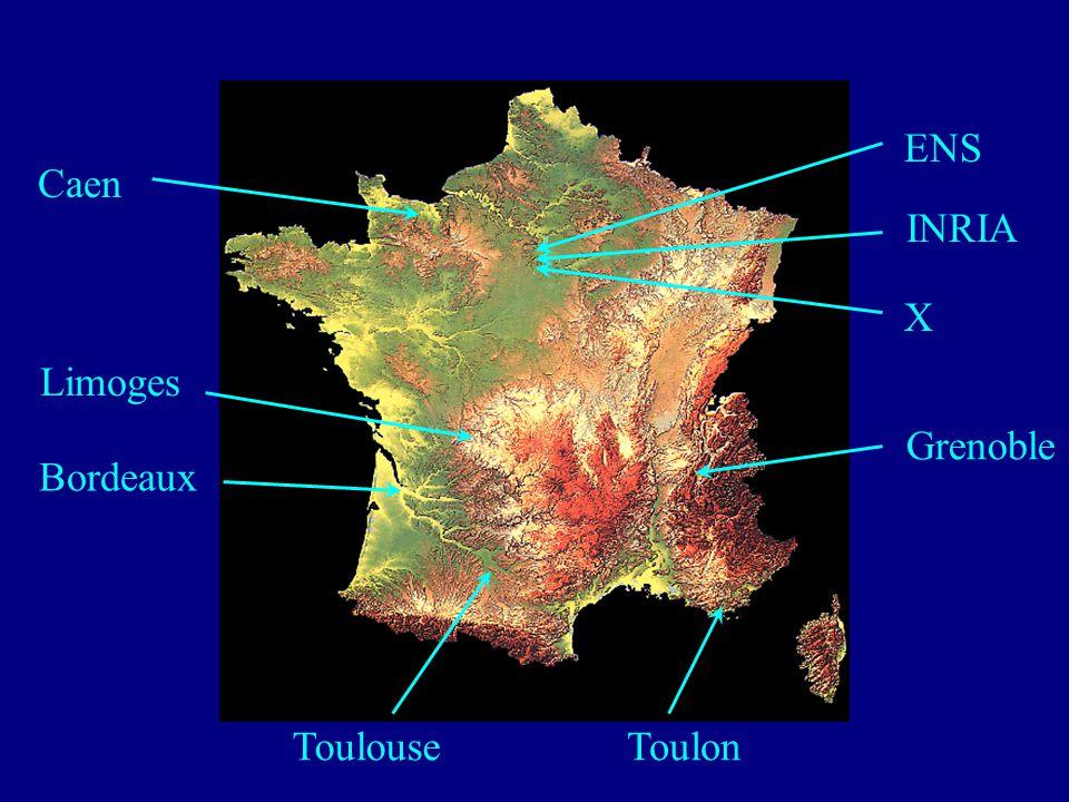 ENS Caen INRIA X Limoges Grenoble Bordeaux Toulouse Toulon