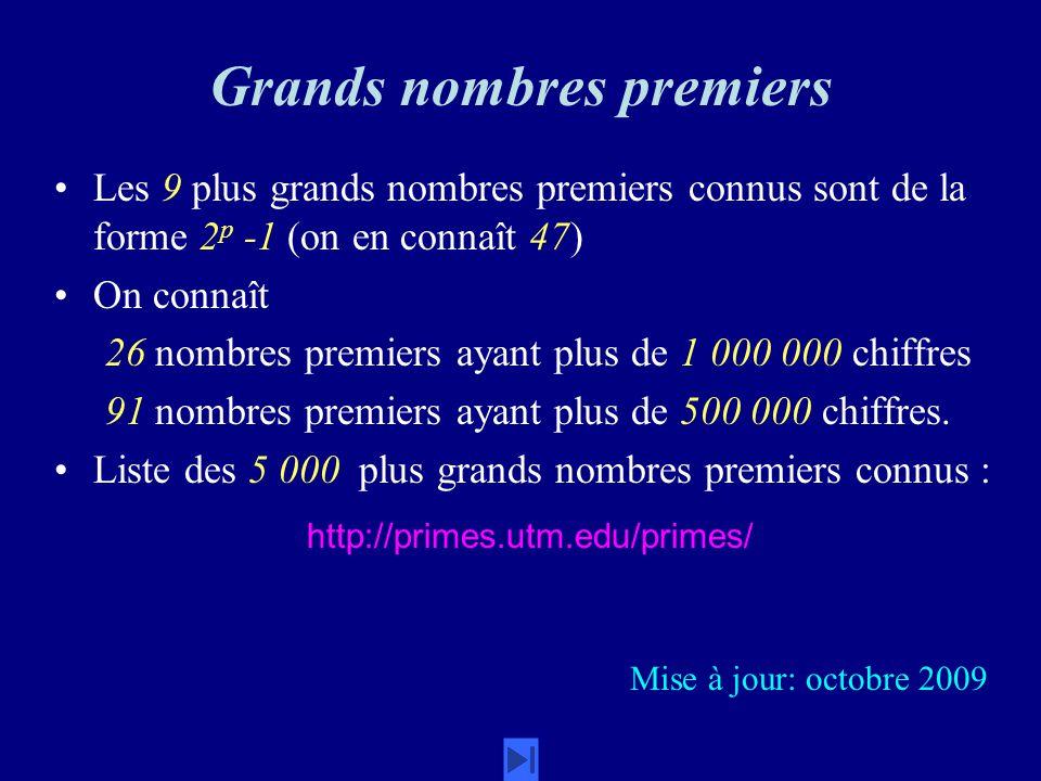 Grands nombres premiers