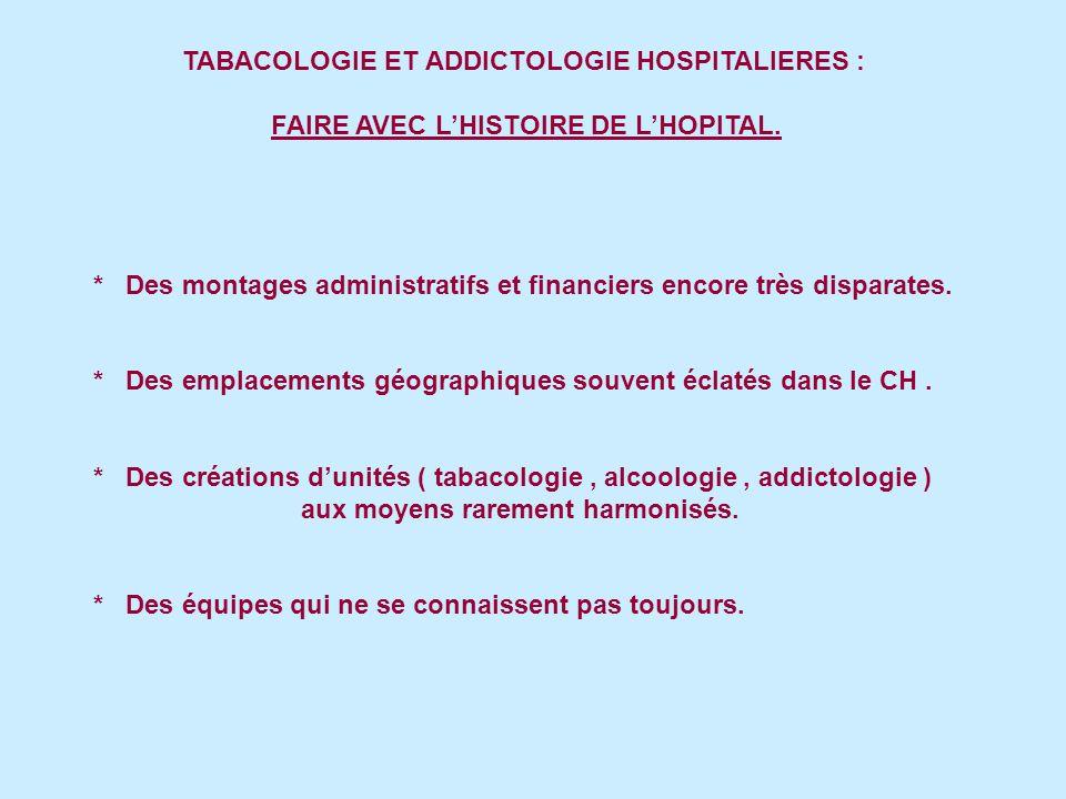 TABACOLOGIE ET ADDICTOLOGIE HOSPITALIERES :