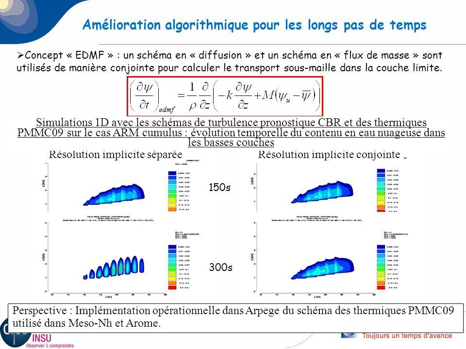 Amélioration algorithmique pour les longs pas de temps
