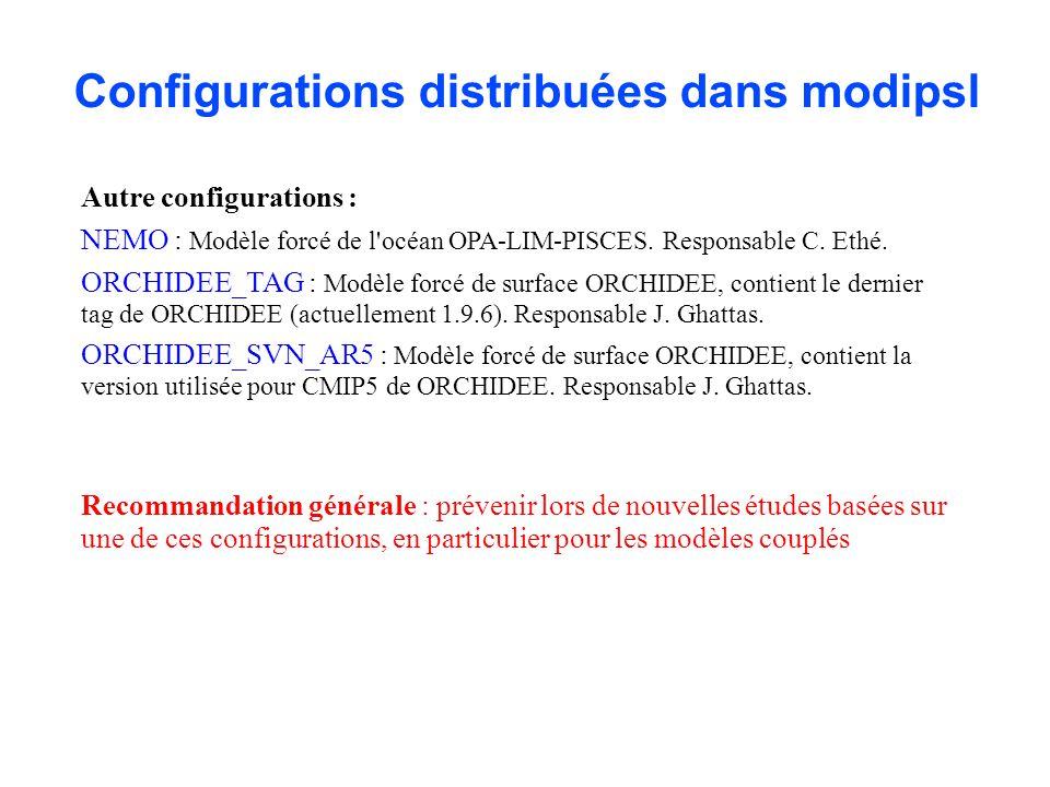 Configurations distribuées dans modipsl