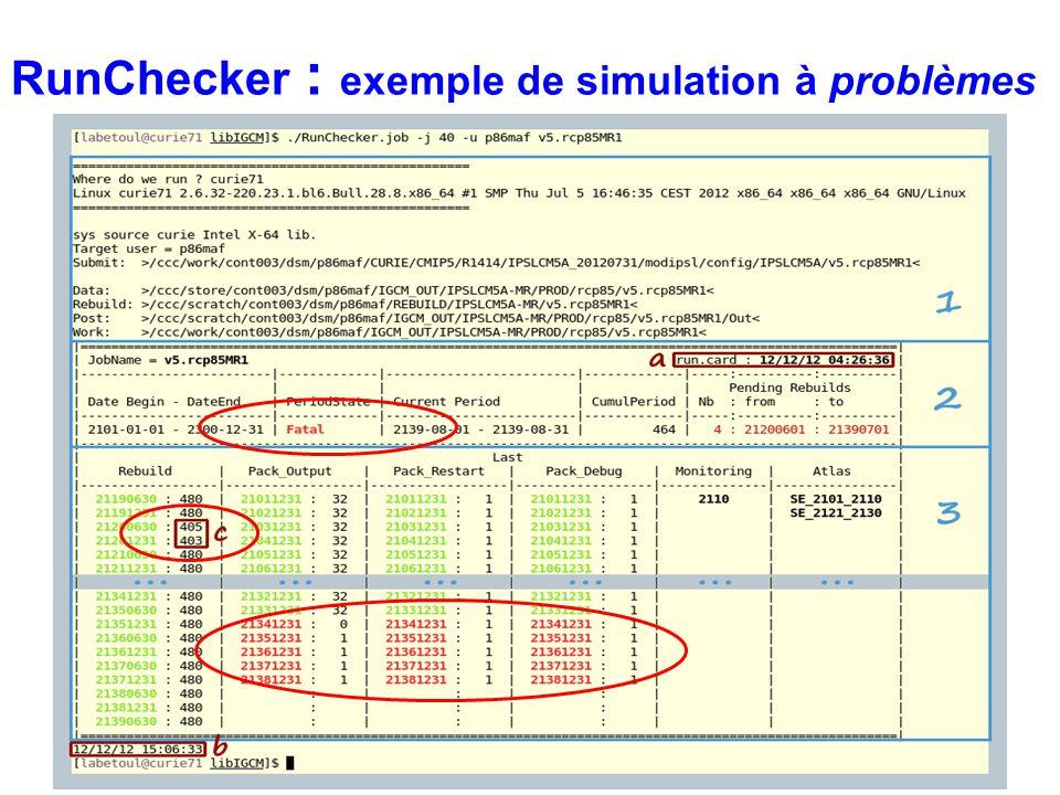 RunChecker : exemple de simulation à problèmes