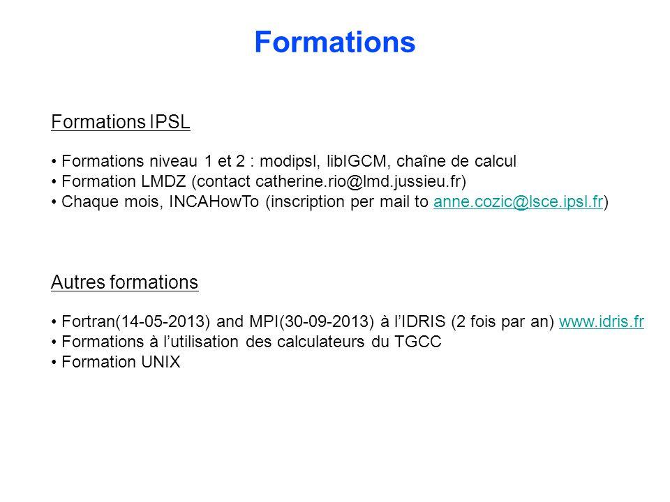 Formations Formations IPSL Autres formations