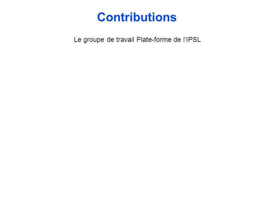 Le groupe de travail Plate-forme de l'IPSL