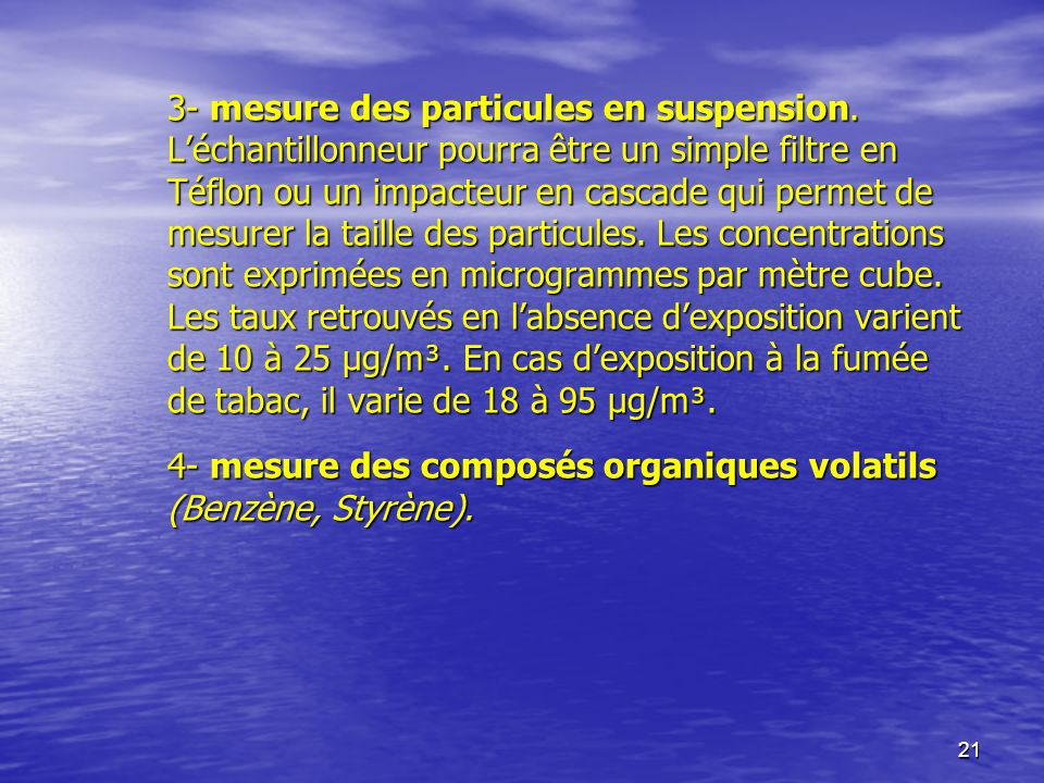 3- mesure des particules en suspension