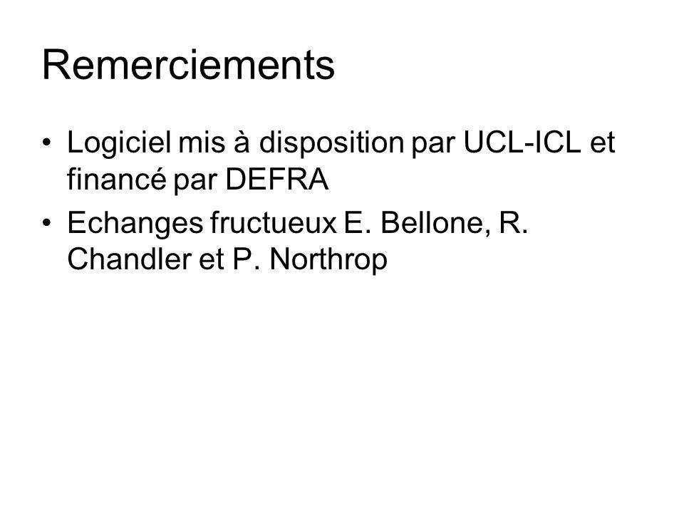 Remerciements Logiciel mis à disposition par UCL-ICL et financé par DEFRA.