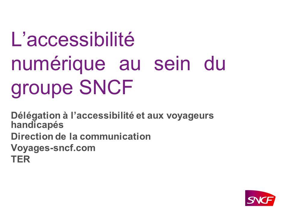 L'accessibilité numérique au sein du groupe SNCF