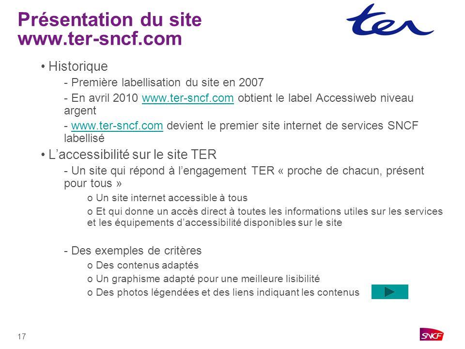 Présentation du site www.ter-sncf.com