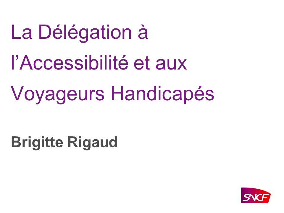 La Délégation à l'Accessibilité et aux Voyageurs Handicapés
