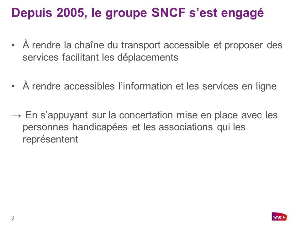 Depuis 2005, le groupe SNCF s'est engagé