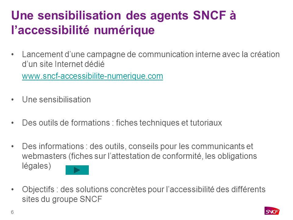 Une sensibilisation des agents SNCF à l'accessibilité numérique