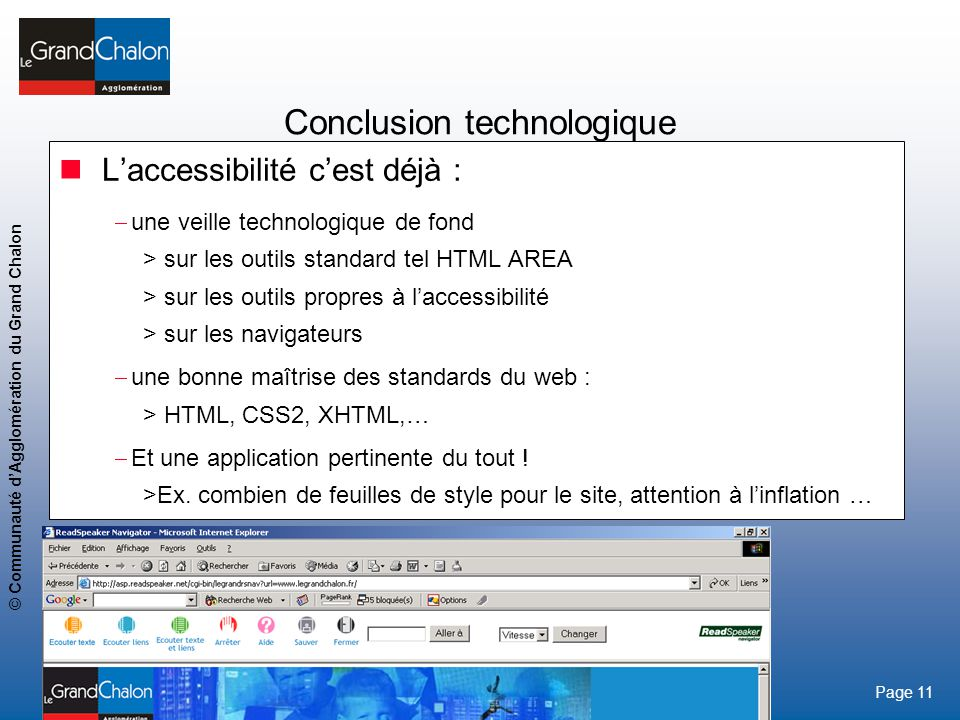 Conclusion technologique