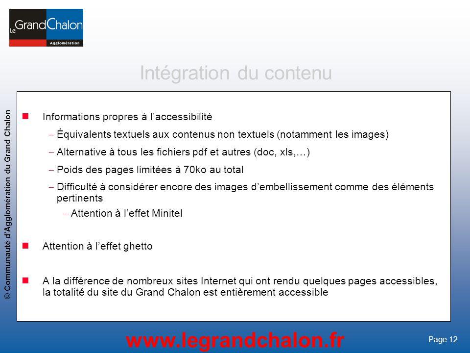 Intégration du contenu