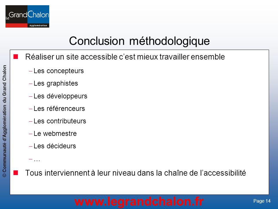 Conclusion méthodologique