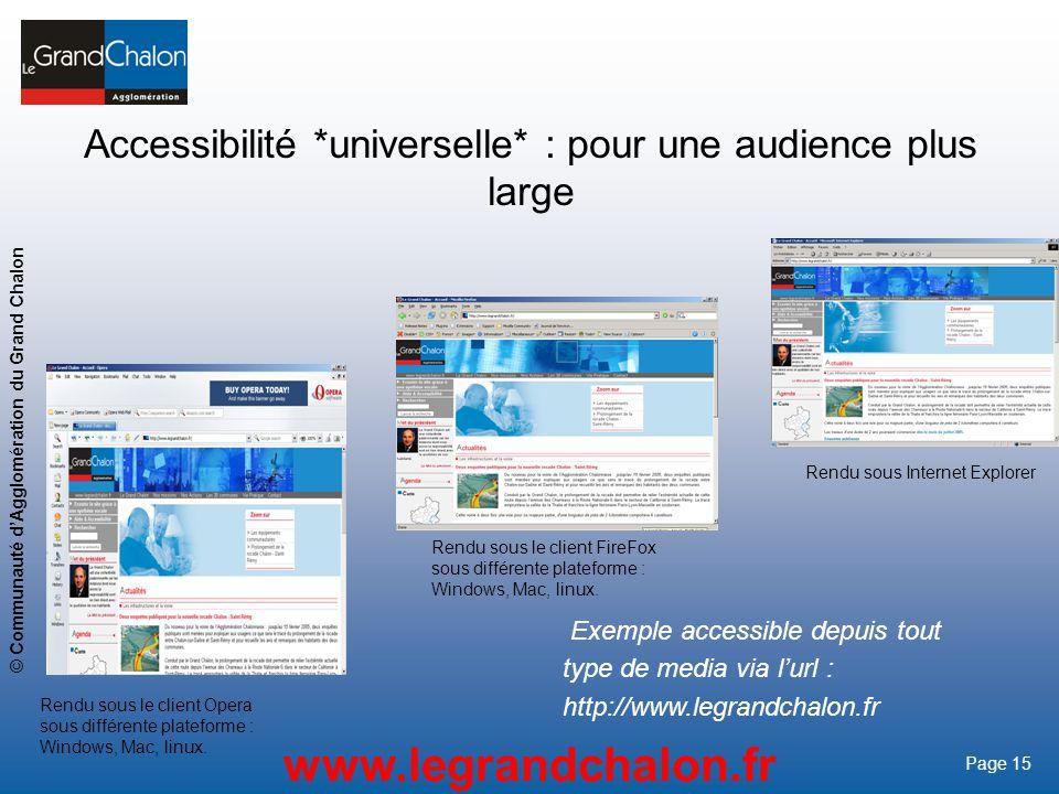 Accessibilité *universelle* : pour une audience plus large