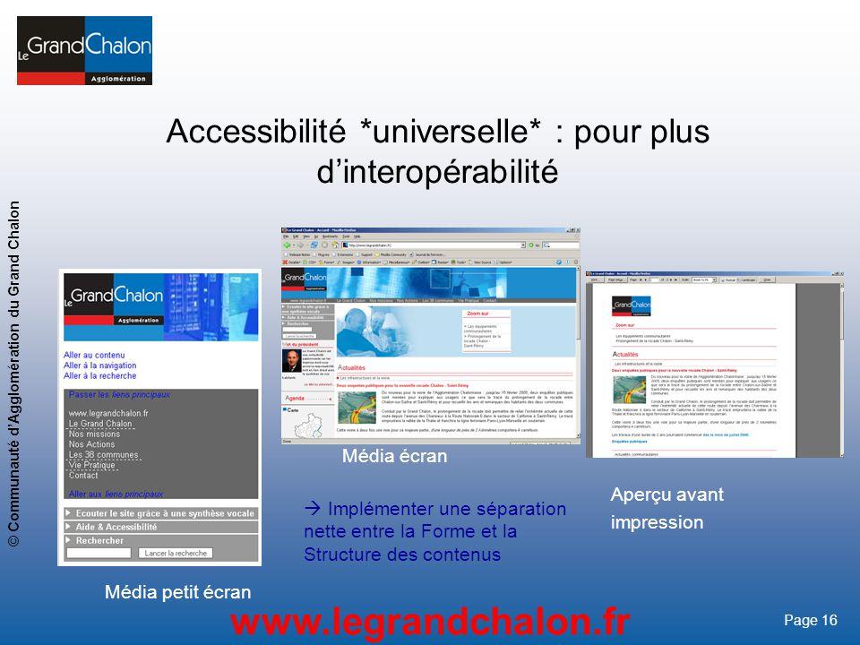 Accessibilité *universelle* : pour plus d'interopérabilité