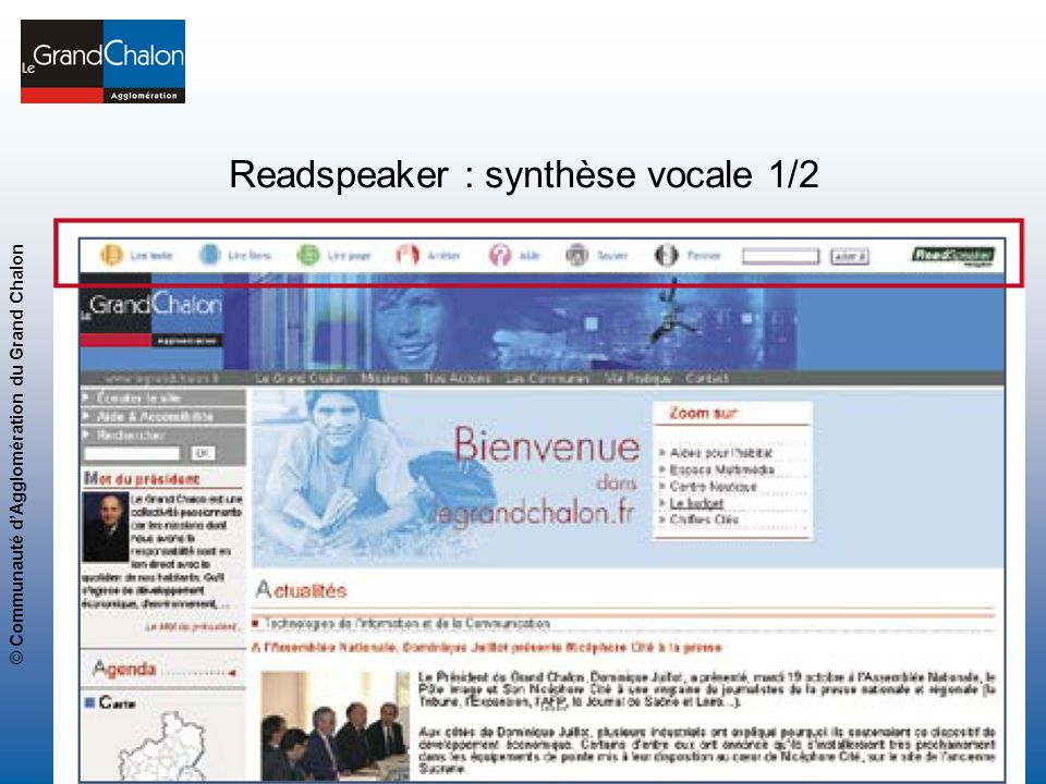 Readspeaker : synthèse vocale 1/2