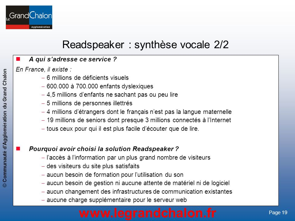 Readspeaker : synthèse vocale 2/2