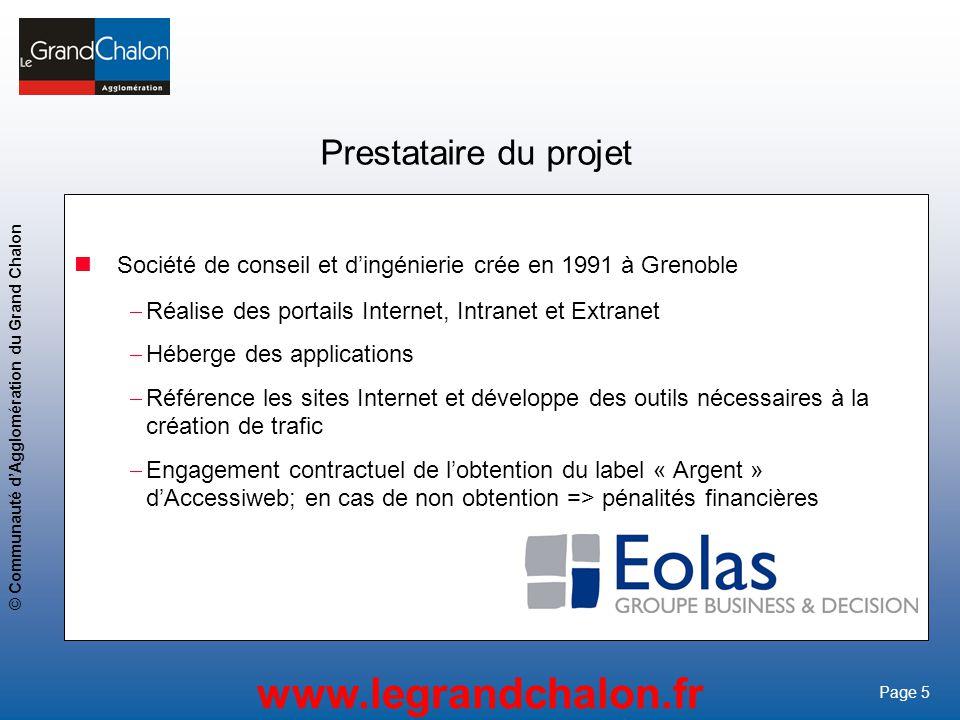 Prestataire du projet Société de conseil et d'ingénierie crée en 1991 à Grenoble. Réalise des portails Internet, Intranet et Extranet.